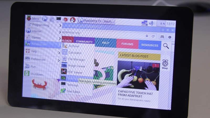Lo schermo Touch Screen ufficiale del Raspberry Pi