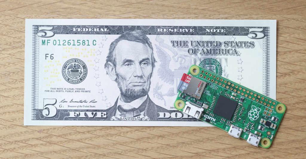 Raspberry Pi Zero a 5 dollari